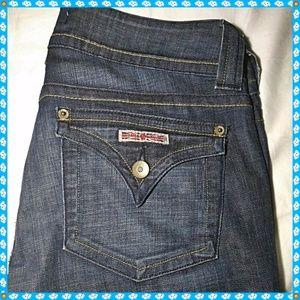 Hudson Size 29 Jeans Dark Blue Button Flap